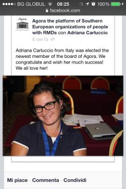 I've been nominated board member Septmber 2013
